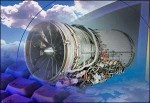 Động cơ bánh xoáy kích thích máy nén khí hoạt động, khiến cho không khí loãng bên ngoài tăng thêm áp suất về phía trong khoang máy bay