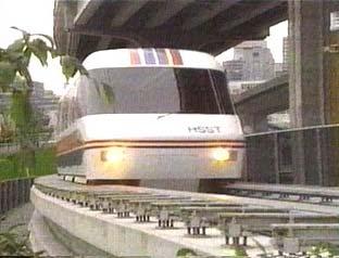 Một con tàu của Nhật ứng dụng hệ thống Speed Surface transport - HSST