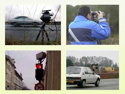 Rađa đo tốc độ được lắp đặt ở nhiều nơi