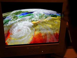 Siêu máy tính Earth Simulator có thể dự báo thời tiết trong 30  (Ảnh: AP)