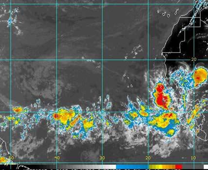 Những cơn giông hình thành tại châu Phi và di chuyển về phía tây Đại Tây Dương trước khi biến thành bão nhiệt đới