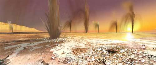 Những mạch phun trên sao Hỏa