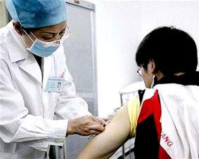 Tiêm thử nghiệm vắc-xin ngừa HIV/AIDS trên bệnh nhân tình nguyện ở Trung Quốc.