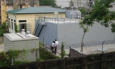 Toàn cảnh trạm xử lý nước thải Viện Khoa học và Công nghệ VN.