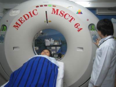 Máy siêu âm MSCT 64 có thể chụp mạch máu dài 1,8m, từ tim đến đầu chân