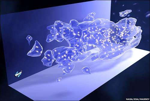 Bản đồ 3 chiều mới của Hubble cho thấy sự nguyên thủy của vùng tối