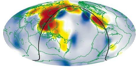 Hình ảnh về khối nước ngầm dưới lòng châu Á.