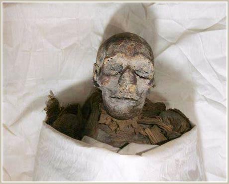 Một xác ướp được xác định là nữ hoàng Hatshepsut được trưng bày trong bảo tàng Ai Cập ở Cairo hôm 27/06/2007