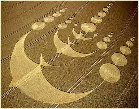Những vòng tròn nối tiếp tạo hình chim bồ cầu ở England