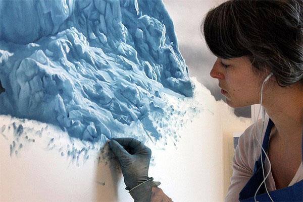 ve tranh dao greenland8 Nghệ thuật vẽ tranh hoa quả cắt lát y hệt ảnh chụp