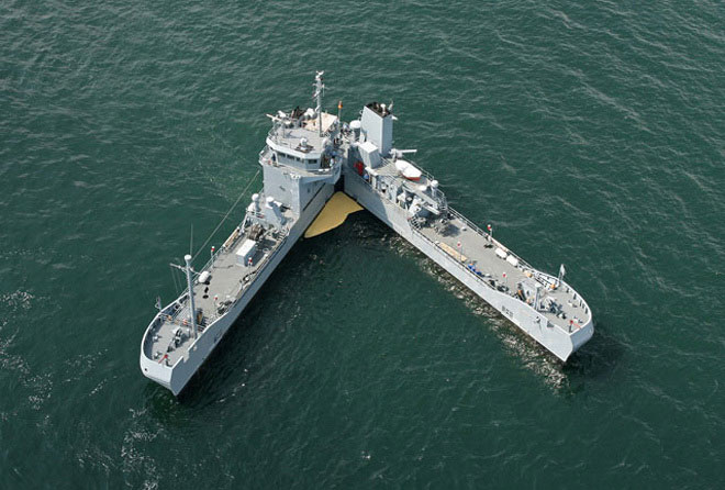 Con tàu có hình thù đặc biệt của hải quân Đức